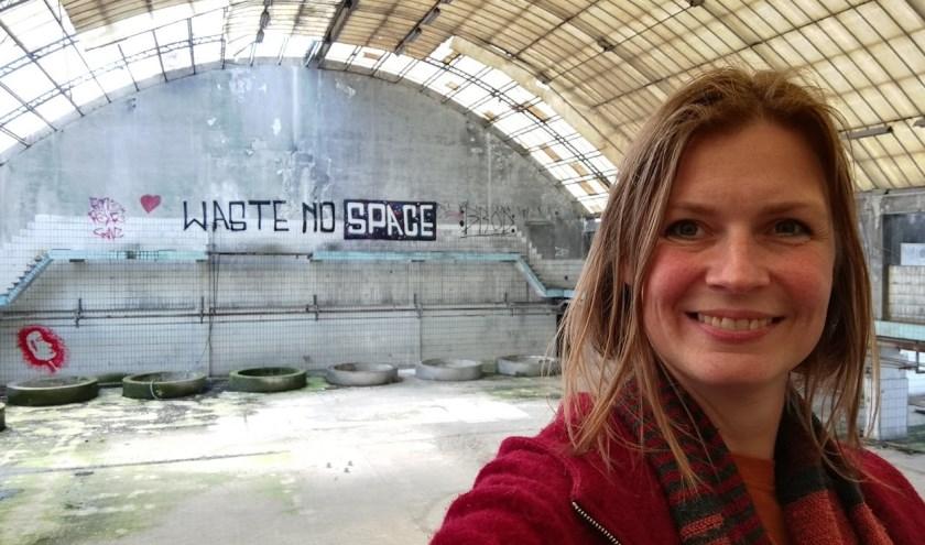 """Marianne Schouten: """"Ik ben supertrots dat deze plek dankzij de Rabobank eenmalig gebruikt mag gaan worden."""""""