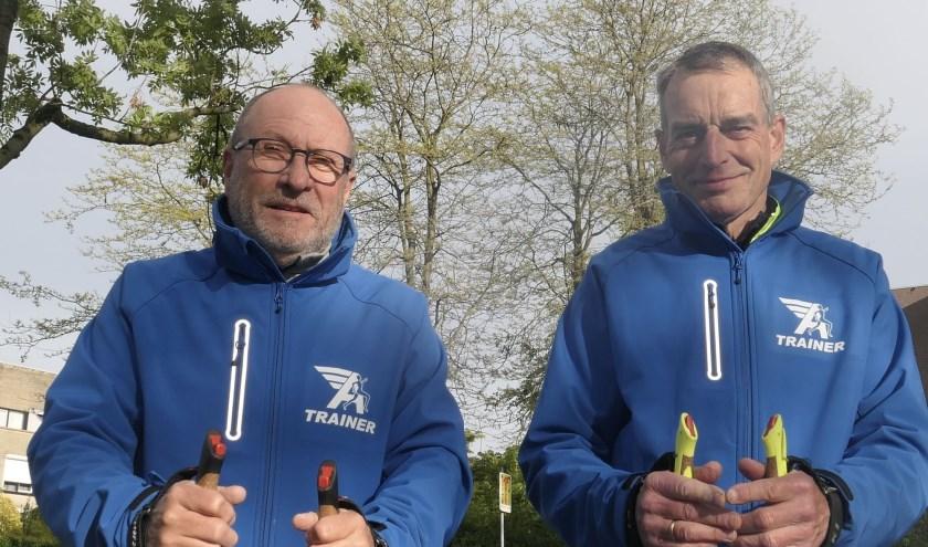 Henk van Beek en Walter van Dijk (Atverni) blazen Nordic Walking nieuw leven in.
