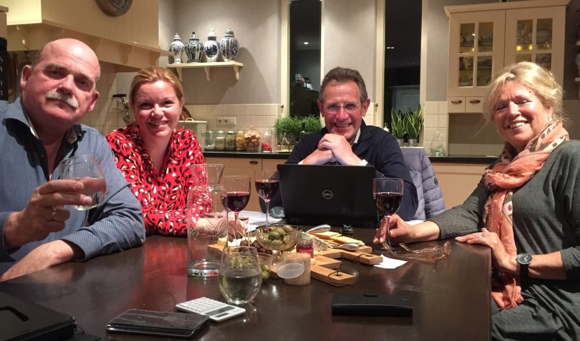 V.l.n.r.: Martin Schaaij, Debbie Sterk, Huib de Vries en Mariet den Boer zijn de enthousiaste muzikale organisatietalenten voor het openlucht Promconcert