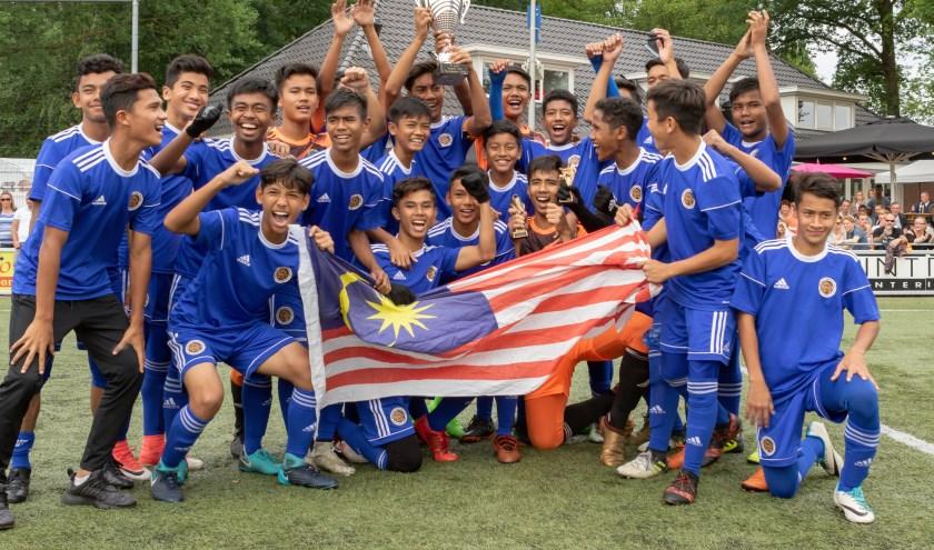 Het jeugdteam van Maleisië won vorig jaar het Vogido U14 tournament.