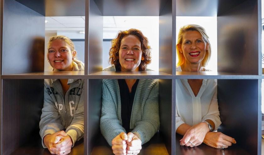 De dames achter Stichting LOEK@YOU in Veldhoven. FOTO: Bert Jansen.