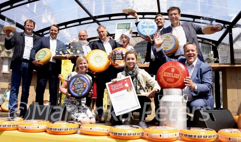 Alle winnaars van de Gouda Cheese Awards. Foto: Marianka Peters