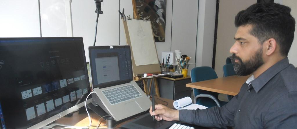 Tawab Safi heeft hier zijn kantoor en atelier. Gevestigd sinds juni 2018.   © DPG Media