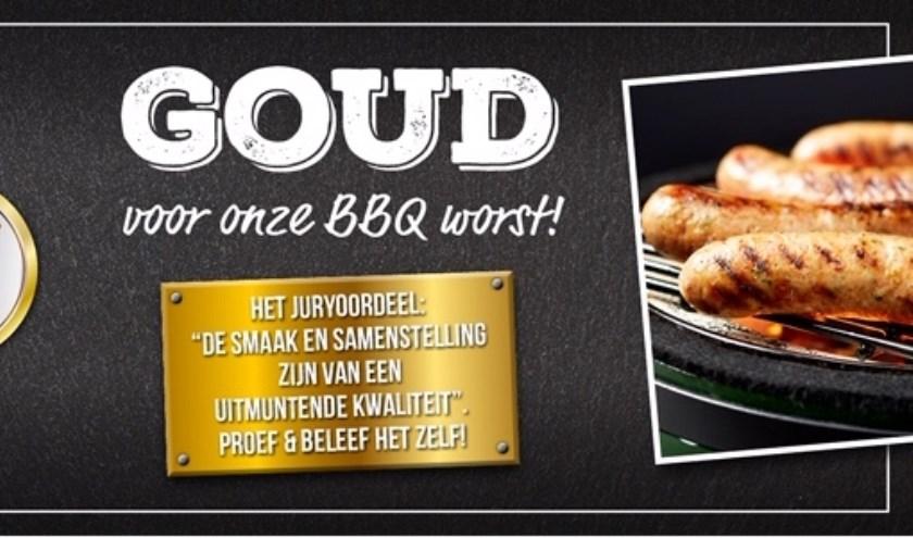 Alweer een mooie prijs voor Keurslager Viergever in Westmaas. Dit keer de barbecueworst. (foto: pr)