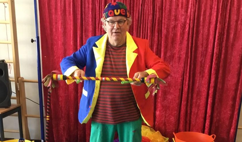 Henk Wateler die de circusworkshop zal verzorgen. Foto: Ineke Burggraaf
