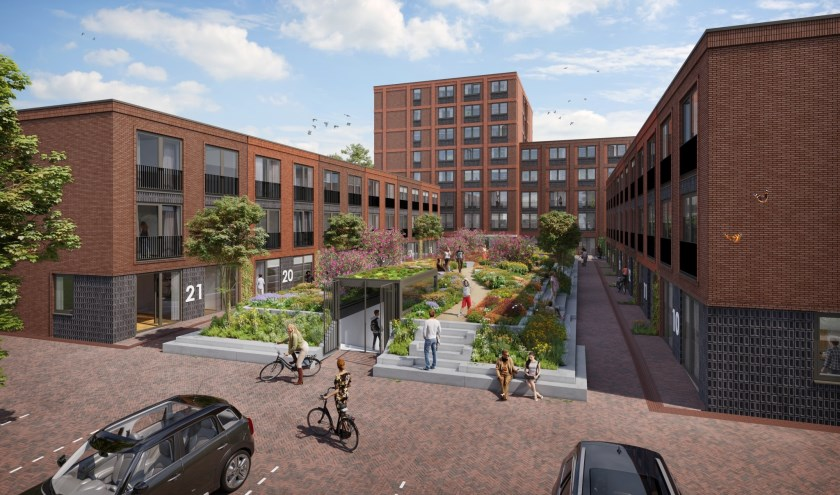 In het ontwerp van Klunder architecten uit Rotterdam zijn de binnentuin (vlindertuin) en de aangrenzende gebouwen goed te zien.
