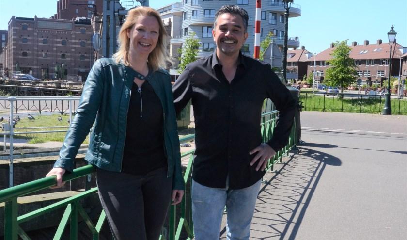 Jacomijn de Vries (l) en Guido Bastiaans. Foto: Jan van Stipriaan Luïscius.