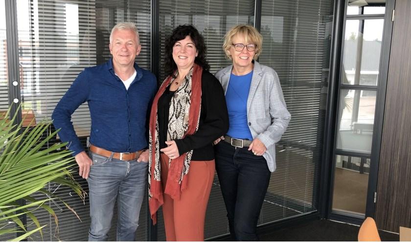 V.l.n.r. enkele coaches: Ibe Bongers, Karin Bolder en Carin Terhorst