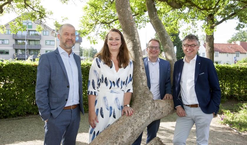 v.l.n.r. Frank van Heusden, Astrid Holtrop, Martijn Vlastuin en Edwin Holtrop. (foto: Johan Mulder)