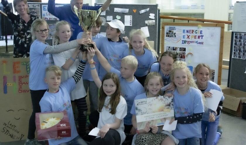 <p>De winnaars van de e-battle uit 2019: de Cazemierschool uit Dalfsen. (Foto: Natuur en Milieu Overijssel)</p>