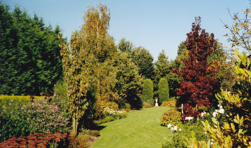 Eén van de zeer fraaie deelnemende tuinen zaterdag 15 juni. (foto: pr Groei & Bloei, afd. Hoeksche Waard)