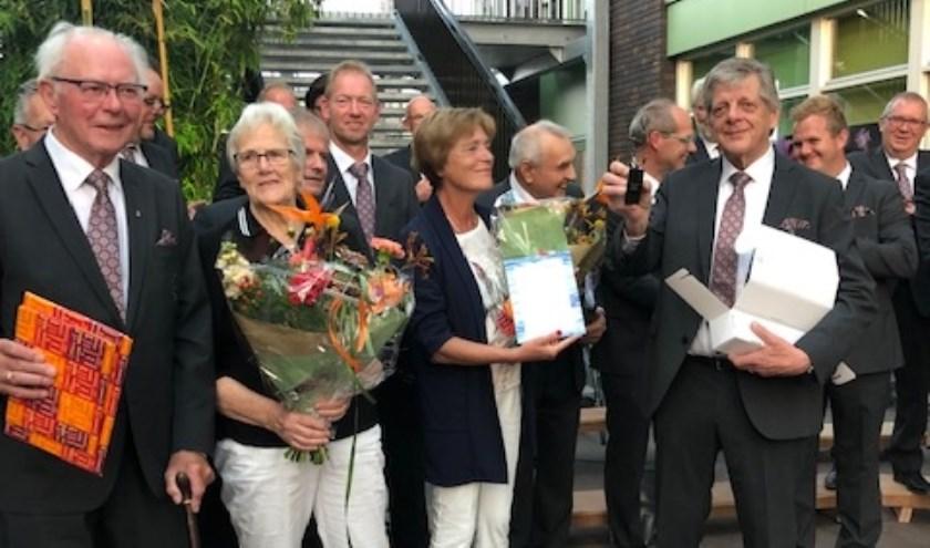 Albert Scholten en Henk Satter werden gehuldigd.