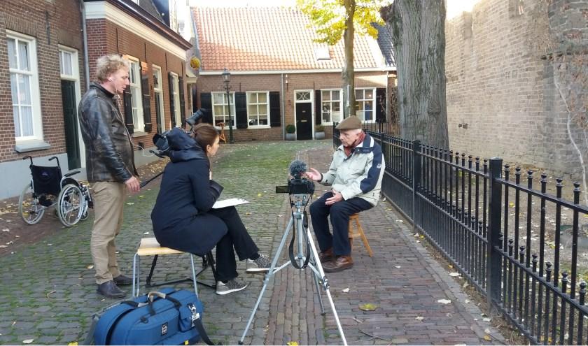 Omroep Brabant bezig met de opnames van het verhaal over Jan Beks.