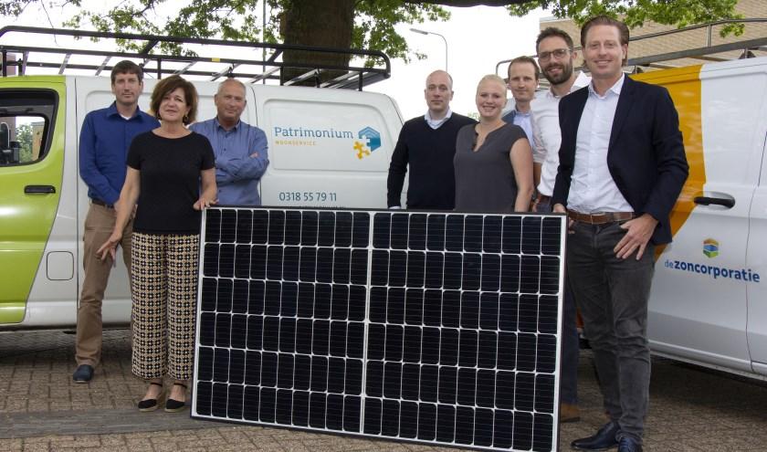 Zoncorporatie mag achthonderd woningen voorzien van zonnepanelen. (Foto: Paul Voogsgerd)