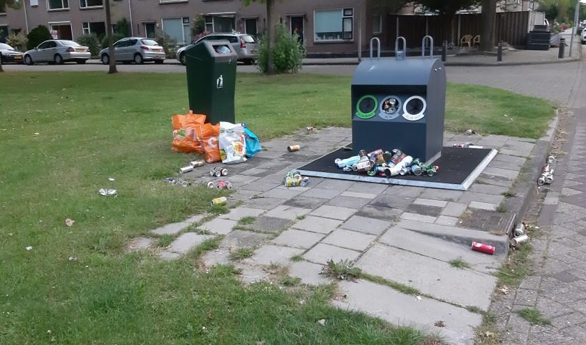 Nieuwe ondergrondse afvalcontainer.