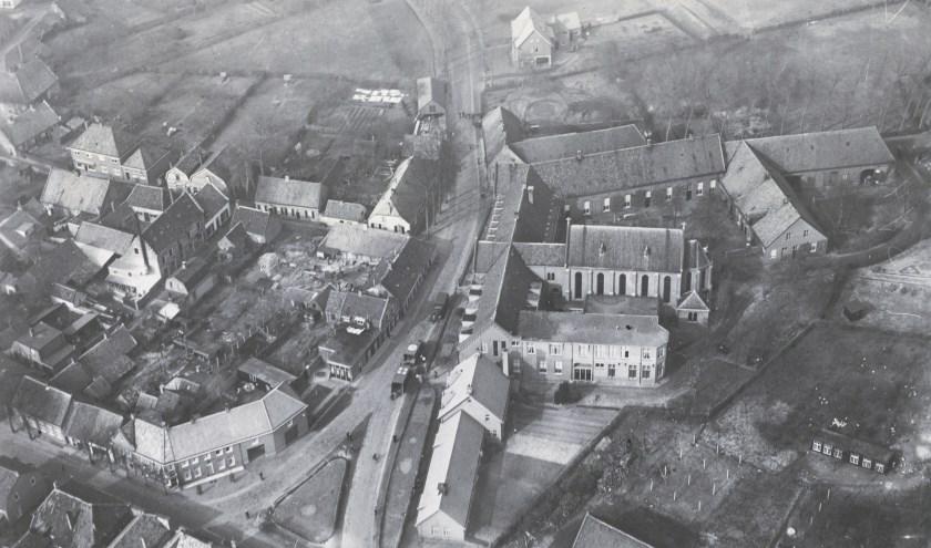 Het centrum van Oirschot gezien vanuit de lucht.
