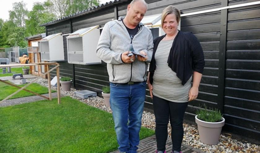 De eerste duif kwam rond 12.00 uur aan bij R.G. Kerkdijk.