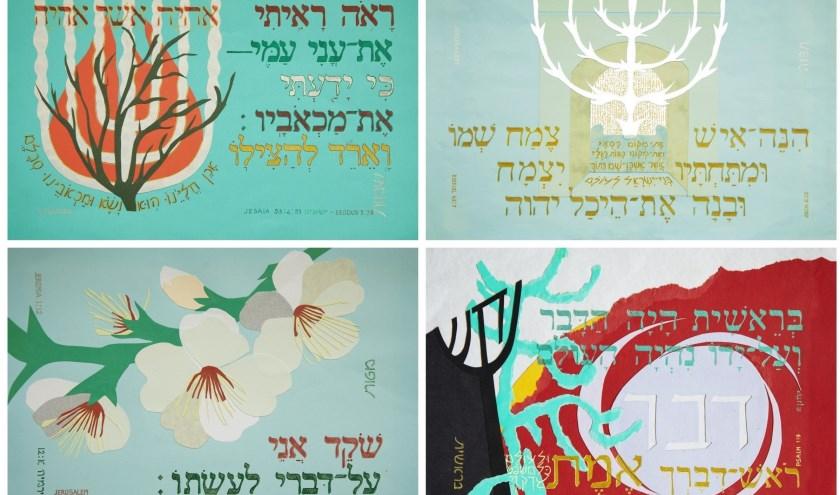 4 collages van bijbelwoorden