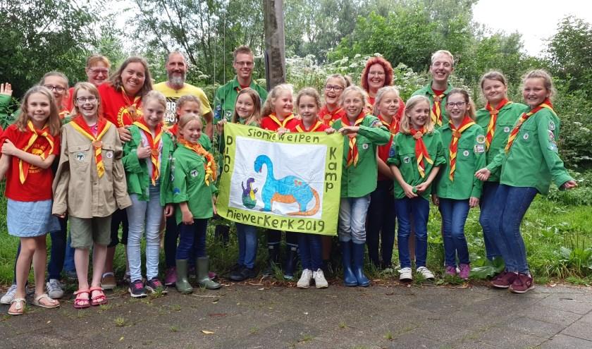 De Sioniewelpen hebben een Dino kamp in Nieuwerkerk aan den IJssel