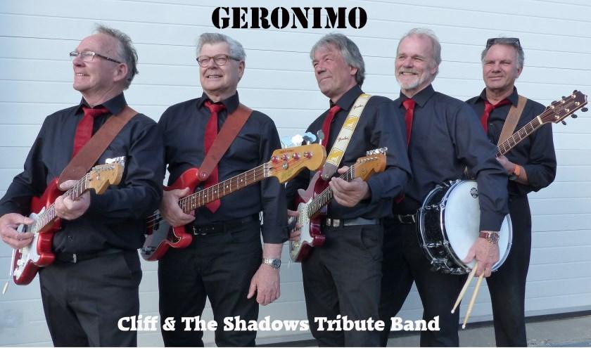 Cliff & The Shadows Tribute Band Geronimo. De leden vinden elkaar in de muziek waarmee ze zijn opgegroeid. Zondag is de try out. Eigen foto