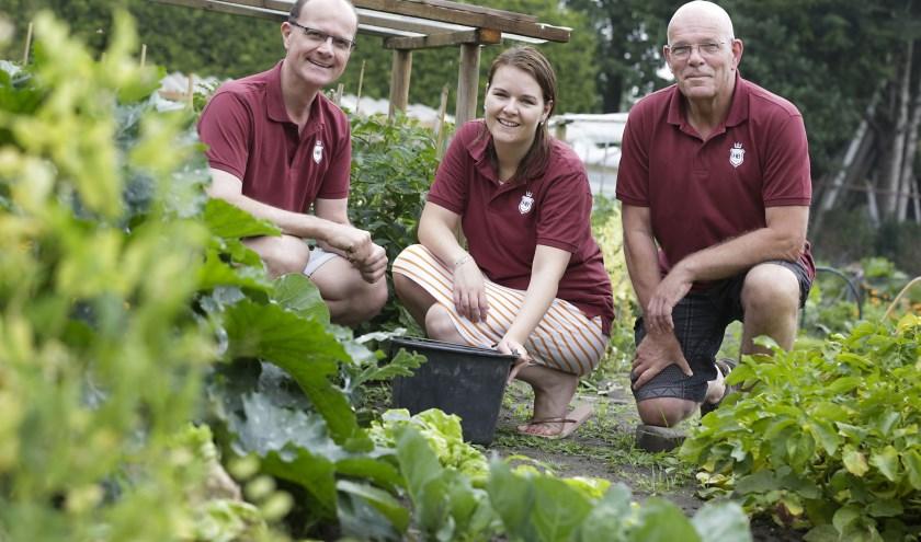 Kartrekkers Peter van Eck, Robyn Reiling-Holland en Boy van de Laar. Foto: Jurgen van Hoof