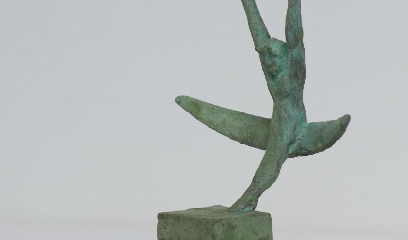 Deel van het beeldje voor de winnaar van de Talter Cultuurprijs.(Bron: Willem Bultman / Kunstgroep de Talter Cultuurprijs)