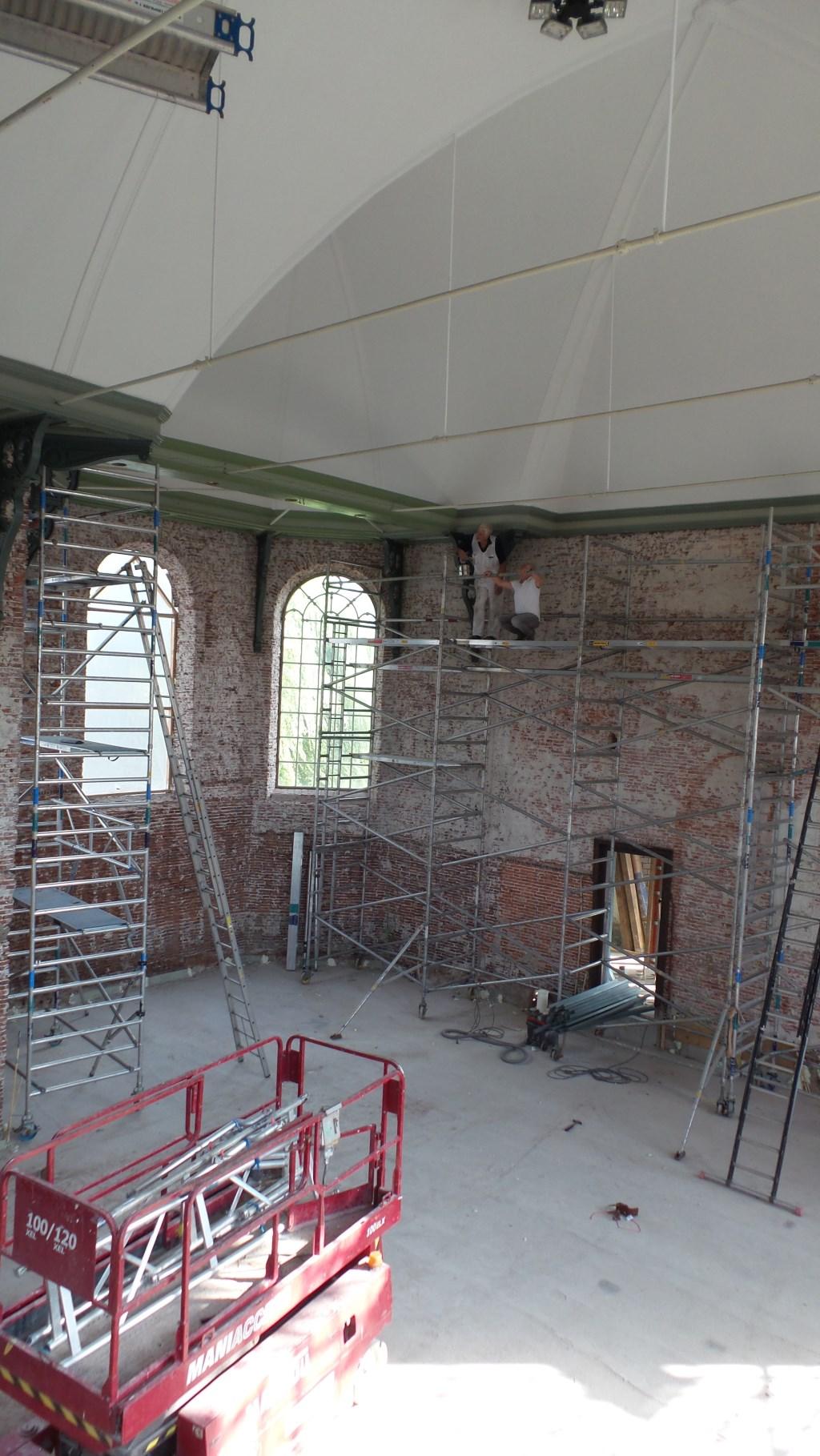 Restauratie binnenzijde Kerk. Foto's beschrikbaar gesteld door CvK Zegveld.  © DPG Media