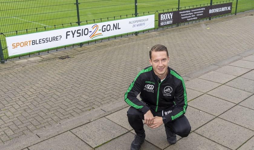 Julian Agatowski: voetballer en fysiotherapeut. Foto: John Wijntjes