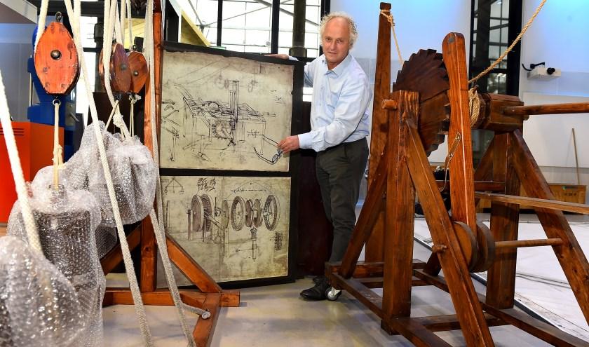 """John Haverdil: """"Leonardo da Vinci bewees bij uitstek dat techniek en creativiteit sterke verbindingen hebben."""" (foto: Roel Kleinpenning)"""