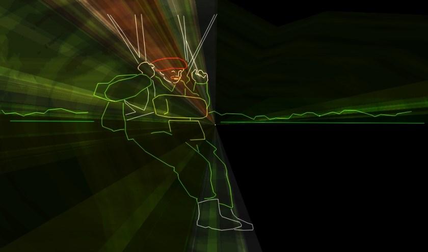 Beeld uit de lasershow.