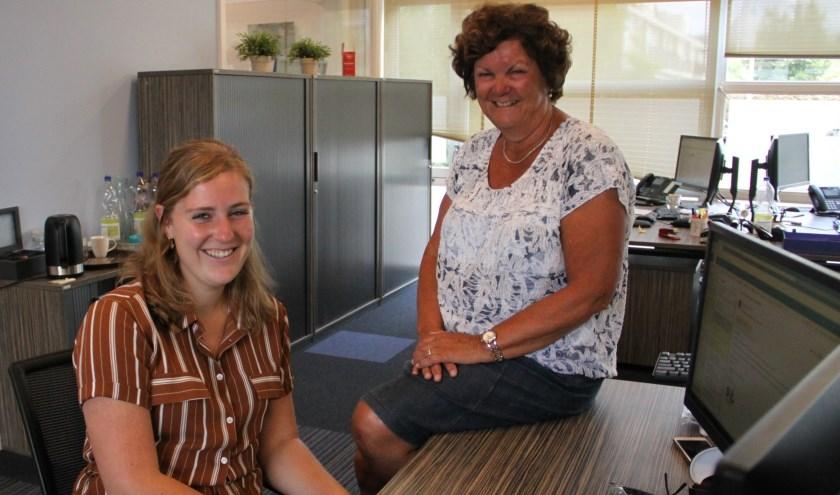 Kwaliteitsfunctionaris van PIT kinderopvang & onderwijs Maud Roebroek (rechts) wordt opgevolgd door Janneke Blokland.