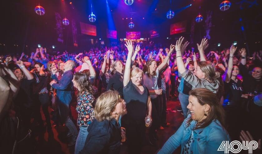 <p>Foto van het feest 40UP, dat twee jaar geleden werd gehouden in de Effenaar.&nbsp;</p>