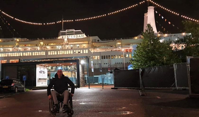 De 36-jarige Romano Gerritsen op de Nacht van de Kaap bij het ss Rotterdam.