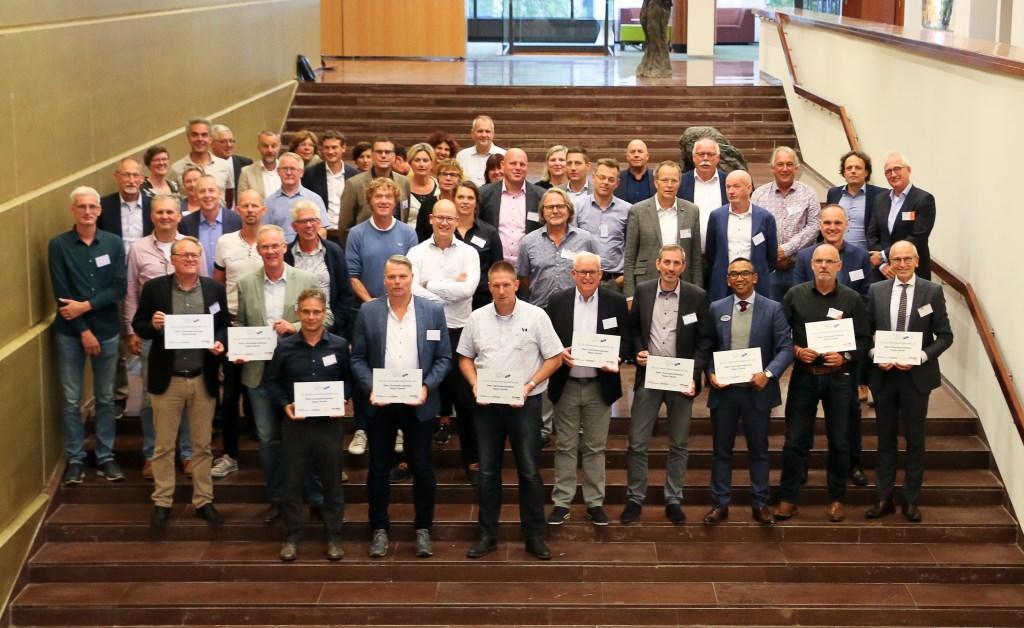 De deelnemers aan de aftrap van Sterk Techniek Onderwijs Zwolle.   © DPG Media