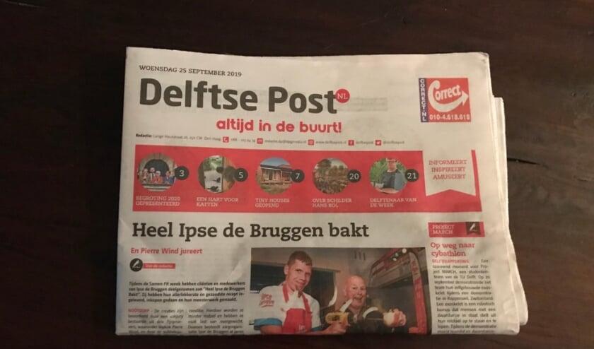 <p>DPG Media is onder andere uitgever van de Delftse Post</p>
