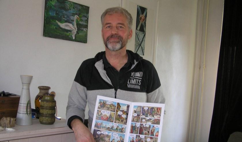 Marc de Lobie laat twee pagina's zien die gemaakt zijn om te pitchen.