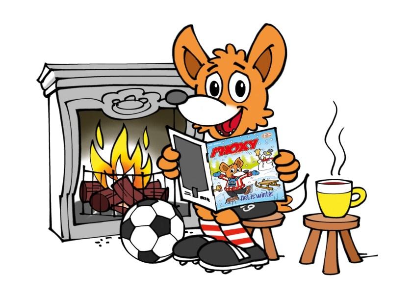 Op zaterdag25 januari is PSV-mascotte Phoxy van de partij in de bieb, waar kinderen met hem op de foto kunnen.