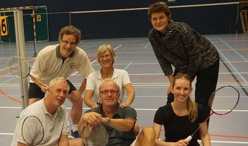 Badmintonclub Zeist gemengd is kampioen.