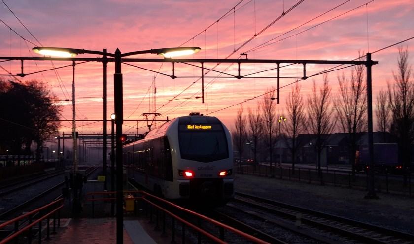 De defecte trein. (foto: Danny van der Kracht)