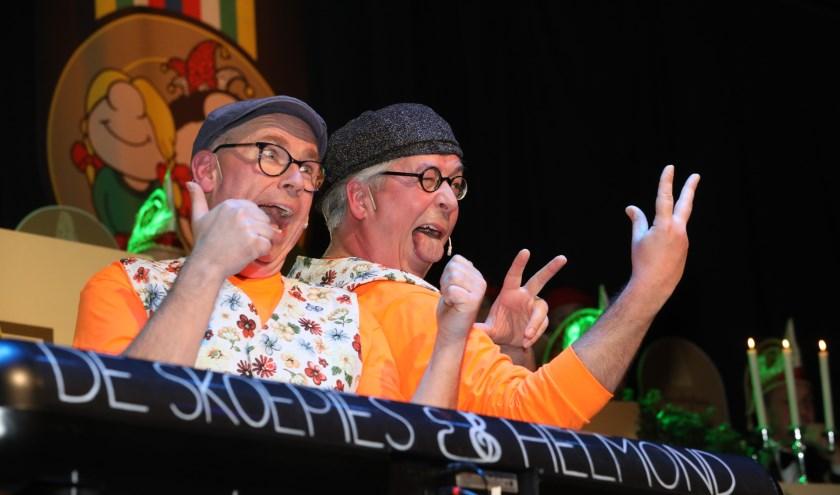 Duo De Skoepies liet een verpletterende indruk achter bij het publiek. Foto: Harrie van der Sanden.