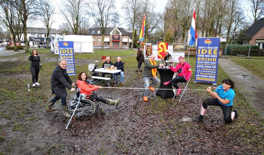 Activiteiten die op de Brink plaats vinden, uitgebeeld door leden Werkgroep Brink