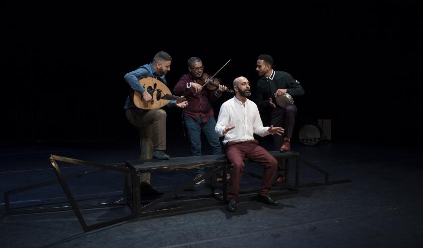 Mohamed El Bachiri wordt in 'Een jihad van liefde' gespeeld door Mohamed Azaay. foto: Jesse Budel
