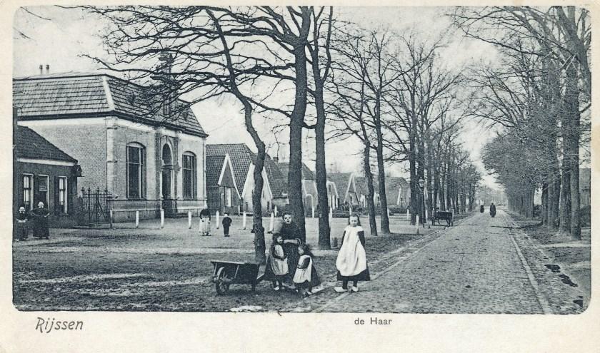 Haarschool rond 1900.