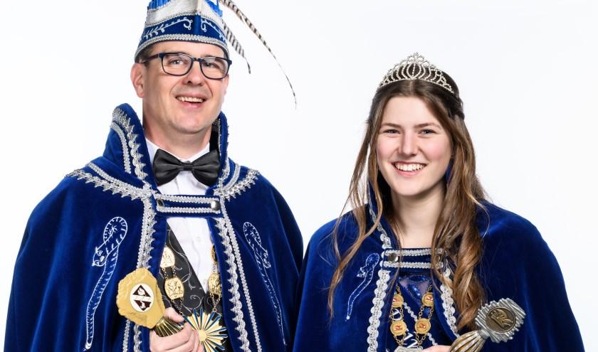 Prins Bas d'n Twidde en Jeugdprinses Ilsa d'n Urste.