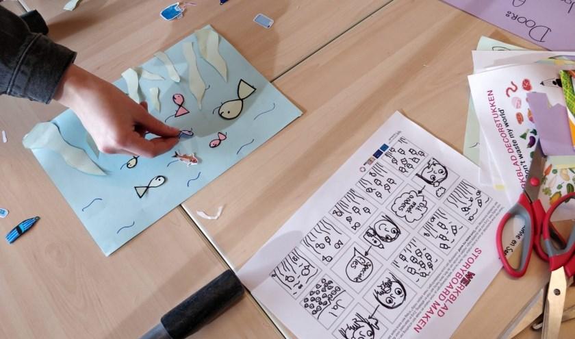 Leerlingen maken een stop motion filmpje met een duurzame boodschap