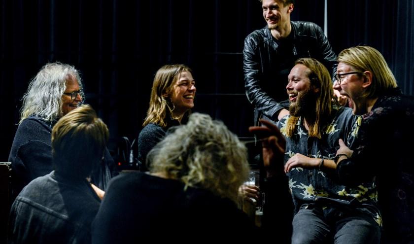 Arja Stam  links op de foto met haar Leif de Leeuw band. (foto: Josef Leitner)