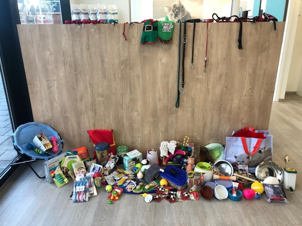Een deel vd ingezamelde spullen Foto: Eveline © DPG Media