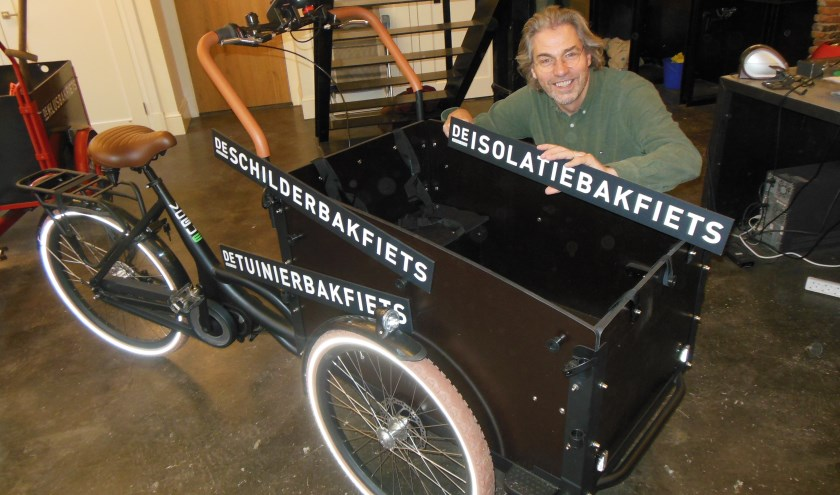 Martijn Ebbinge van De Klusbakfiets streeft met specialisatie naar meer kluskwaliteit. (foto: Eric Klop)