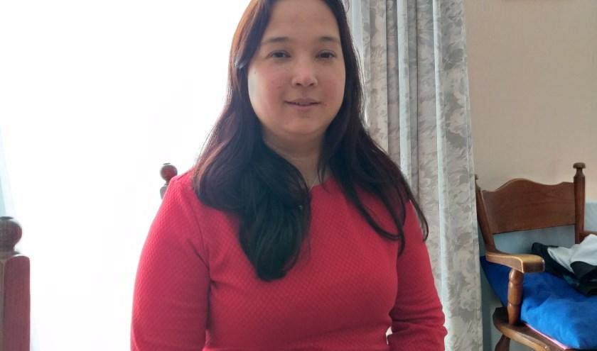 Voorzitter Angelique Lew is na haar actieve schaatstijd nog steeds betrokken bij de (kunst) schaatssport
