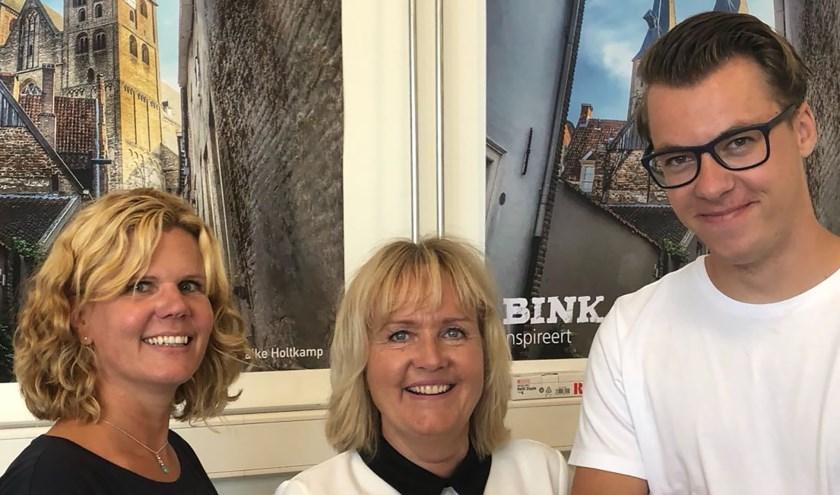 Suzanne Harmsen, Jeanette Temminck en Manuel Bruins